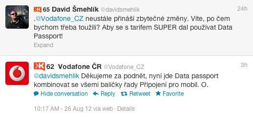 Podpora Vodafone